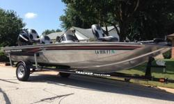 2008 Bass Tracker Pro Crappie 175 equipped with a nearly new Mercury 50HP EFI 4 stroke outboard motor with only 17 actual hours or running time. Motor does have full factory warranty through Mercury Marine until November of 2015. (do have Rec's of motor