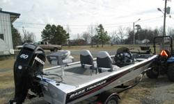 Here is a little repo Basstracker.... 175 Pro Crappie with 60 Hp Mercury 4 stroke.... This boat is not perfect... However not rough either.... The carpet does have a few spots that are worn.... the seats are brand New...... The boat does have a ding in