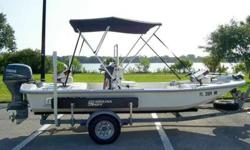 This beautiful, garage kept, Carolina Skiff is in excellent condition! This boat is light weight, fuel efficient and easily navigates shallow water. It has front and rear non-skid decks with lots of storage CALL OR TEXT ONLY WILL NOT RESPOND TO EMAILS @