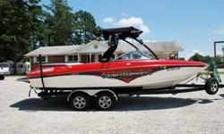 This gorgeous 2008 Centurion 230 Enzo just came in and hasn't even been washed yet in the pics below. Centurion boats have been around for ever and are considered top of the line and highly desirable, especially on the west coast. They are famous for