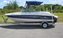 Here is Very nice Lake Ready 2008 Chaparral 190 SSI 20' Bow rider with an aluminum trailer!! This boat is in very good shape. This boat comes with Limited Lifetime Structural Warranty on hull and deck. It has Cockpit floor storage forward. AM/FM/CD