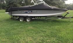 2008 Correct Craft Super Air Nautique 230 Team Edition, ZR 390 HP, Color is gray , white, and black, FULLY loaded, Team package, full throttle package, crest carpet, sun deck filler cushion, Zero Off GPS speed control, Keyless start, 3 factory ballast ,