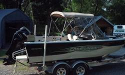 One owner 2008 Crestliner 1950 Sportfish with 175 HP Mercury Verado and 9.9 HP Mercury Pro Kicker. Colors are Sandy White & Black. The boat is in excellent condition. no accident or damage history. No dents, Freshwater use only. Inside storage always.