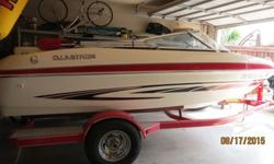 Lots of time to enjoy a boat....no better deal or boat on Craigslist! $4,000.00 below Blue Book. 2007 Glastron GT-185 inboard/outboard White and Red boat. Only 92 hours. In excellent condition. No rips or tears in seats, clean removable carpet with bimini
