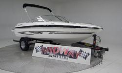 This is a very well maintained local boat. Treated very well and was kept in doors when not in use. The 4.3 offers plenty of power for this 2300 pound boat. Ideal for tubing, skiing and wake boarding. A great First boat if you have never had a boat, very