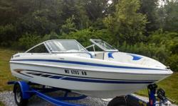 Great condition! Low hours. Volva Penta 3.0L 135CC I/O engine. Includes 2008 EZ Loader trailer with hydraulic brakes. Many extras including XL package, Coast Guard package, bimini top, cover, spare tire/mount, Jensen AM/FM/CD marine stereo, snap in carpet