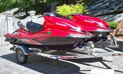 You are looking on (2) USED (19 HOURS EACH) 2008 Kawasaki Ultra 250X Jetskis. These (2) jetskis have a 1500cc, supercharged, 4stroke engine, 250 horsepower, fuel injection, reverse, and much more. (2) 2008 KAWASAKI ULTRA 250X JETSKI JT1500B8F 1500 CC &