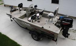 Trailer is like new and has foldable tonge..What it has for options is 4 seats,Lowrance HDS8 Fish finder and Structure Scan,Lowrance X50DS fish finder,Only used twice Motor Guide Wireless Trolling motor,New.batterys .New 2 bank charger,lights,5 life