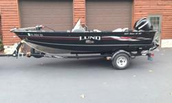 2008 Lund 1625 XL SS, 50HP Mercury 4 stroke power tilt, Lowrance Elite GPS fishfinder with Navionics updated platinum chip, electric trolling motor, livewell, 3 batteries, built in battery charger, AM FM stereo (satellite ready), trailer, spare tire, 2
