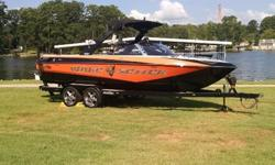 Check out this 2008 Malibu with low hours. Perfect boat for wakeboarding, surfing or just spending some time on the water with family and friends. This boat comes equipped with the Malibu Power Wedge and ballast system all digitally controlled for that