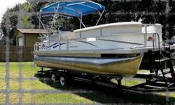 the lowest-priced boats in a fleet that also includes Crest pontoons. Enhanced style changes include radiused front railings and seats, brighter graphics and upgraded interiors. The 230 Cruz is available in fishing, cruising and XR (extended rail) models