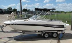 2008 NAUTIC STAR 222 DC FISH AND SKI deck boat. This boat will guarantee a few double takes from its onlookers. Her low, and sleek design really sets her apart from other boats her size. It is a spacious boat that can seat up to 10 people!!! The 222 is