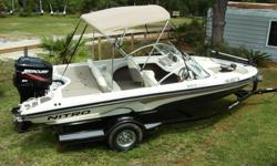 For sale is a 2008 Nitro 189 Sport. It has a 2008 Mercury 150 EFI. The boat and motor have 68 hours on them. Yep you heard me right. 68 hours. This boat has been stored indoors and used on average 10 hours a season. In June of this year the motor had a