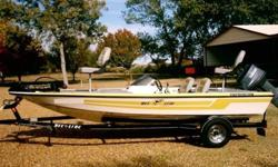 """""""Not a Nitro"""" But if you are looking for a Quality bass boat of this size then take a look at this one! 2008 Phoenix Bee Line with the tried and true Yamaha 70hp 3 cylinder """"2 stroke"""", MotorGuide trolling motor, Lowrance X 52 fish finder at the console"""
