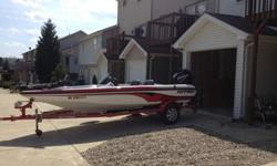 The boat has been garage kept and professionally maintenanced. One owner. Boat is in very good condition with the exception of one area on the bottom back, which I included a picture of. This happened the first year I had the boat and did not cause any