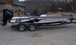 2008 Nitro Z9 in excelent condition- 250 mercury pro XS - 36 volt 109 lb thrust Tour Eddition trolling motor by MotorGuide- Tandem trailer with brakes and fiberglass fenders- 4 deep cycle batteries- stealth charging system with gauges- hot foot- trim