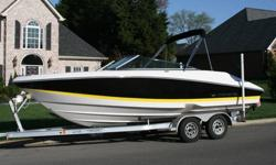 This boat has several very key features that make it the best boat I have ever owned. First, the Volvo Duo Prop system offers two props on one drive. The beauty of this system is that it has a smaller prop for hole shot for watersports and performance,