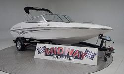 Ok, this is a super clean, 1 owner 19' boat! Clean, clean!! Very popular design with the walk through entrance. Comes with warranty. Ask about FREE delivery. Add a tower for only $1800.00We have the largest selection of very clean used Boats in the