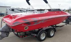 This is a brand new 2008 Reinell 240 LS. This unit was owned by a Reinell dealer who went out of business and was bought back by the factory and sold to us. The boat comes with all of it's remaining factory warranty that starts the day we sell it. Options