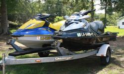 We are selling a 2008 Sea-Doo RXT and a 2006 Sea-Doo GTI along with a 2008 Shorelander double trailer. Both jet ski's were purchased new and used exclusively by our family. We used them on a local freshwater lake and once yearly in a saltwater bay. They