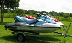 """2008 SEA DOO GTI WITH """"6"""" HOURS & 2006 SEA DOO GTX """"SUPERCHARGED"""" WITH """"41"""" HOURS! YOU ARE LOOKING AT A PAIR OF ONE-0WNER """"ADULT OWNED"""" GARAGE KEPT SEA DOO WATERCRAFT THAT INCLUDES THE TRAILER. THE PICTURES WILL SHOW THE EXCELLENT CONDITION BOTH OF THESE"""
