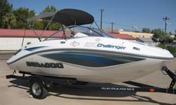 2008 Sea Doo 180 Challenger SE GPS, Depth & Fish Finder ??? Challenger Description :? Perfect Condition - Only 16 hours of use ? 2 Year Warranty ? Garage Kept ? Comfortable seating for up to 8 people ? Bimini Top ? Boat cover ? JENSEN AM/FM/CD Stereo with