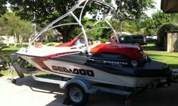 2008 Jet boat only 124 hours on it, garage kept with all maintains done at Mancuso Power sports. One owner. I have a binder filled with receipts from the dealer on everything ever done to the boat. Custom sound system by JL audio and Alpine. Clean Perfect