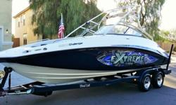 Its has Twin Supercharged Engines totaling 430 hp, only 149 hours and is super fast... wakes in 2.8 seconds. Overall, it is in great condition with minor scratches on the hull and only a few hours away from breaking in the motors!Features
