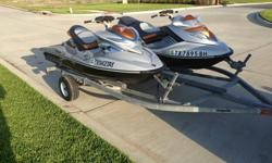 Recently had oil changed,fuel injectors cleaned and wear rings replaced.These are some of the fastest skis on the water!!!Google sea doo versus Ferrari and watch this ski beat a Ferrari!Comes with Double trailer.I have owned for 3 years and take very good