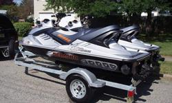 Two 2008 Sea-Doo RXT-X for sale with Karavan double trailer. Watercrafts are in great shape with only 48 and 49 hours. These Seadoo's have only been run in fresh water! Karavan trailer has low miles, tires in great shape with spare included. Both Seadoo's