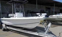 2008 19ft SEA HUNT CENTER CONSOLE Model 190 w/Yamaha 4-Stroke 115hp Outboard. Comes with nice single axle aluminum trailer pictured, trolling motor and like new aluminum T-top. Comes with everything pictured including stainless prop and is