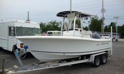LIKE NEW.ONLY 68 HOURS.BOAT HAS BEEN SEA TESTED AND PERFORMS GREAT.RUNS LIKE NEW.INCLUDES TRAILER.THIS IS NOT A FLEET VEHICLE.NORTHSTAR EXPLORER 650.LENCO TRIM TABS.YAMAHA FOUR STROKE.MOTOR AND BOAT RUNS LIKE NEW.Manufacturer Sea Hunt . Model Year 2008 .