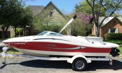 Highlights below:-Only 62 hours.-Stored indoors in an Indoor Dry Stack. Was not in water for more than single day use.-One owner. Well maintained. Always professionally summarized and winterized.-New battery in May 2014.-3.0L MerCruiser 135 hp
