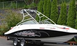 Sea-Doo 230 Wake model combines twin Rotax 4-TECTM four-stroke technology for the highest horsepower on the market and the best acceleration in its class.Responsive handling and formidable horsepower make tight, hard turns standard equipment.Included
