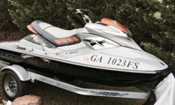 2008 Seadoo RXP 255 only 3 hours comes with cover and 2013 Confab trailer. This ski is like new had 3 month old battery. Purchased in 2011 as leftover from Seadoo dealer. Excellent condition! Fresh water use only has sat in ski platform its entire life.