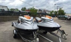 I'll respond ONLY through phone so please leave me your number.Thanks! For sale is a pair of 2008 seadoo RXPX 255hp supercharged jet skis and a 2008 Triton aluminum trailer. Both skis are in great condition with less than 60 hours on each. They have some