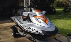 2008 SEADOO RXT X 255 HP 117 hours, comes with a 2012 continental aluminum trailerSupercharger has been rebuilt 12 hours ago. Comes with the brand new battery (still in the box) , seadoo jetski cover , 4 life jackets ( 1 medium, 2 large and 1 XL) and 2
