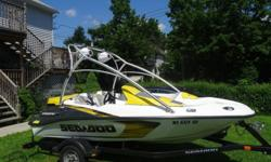 Low hour fun boat ,in great condition, seats are in great condition,Wakeboard tower with Hi Power SpeakerAudio Clarion CD/MP3/AUX/AM/FM with Transom remote control Audio Speaker LanzarAudio Amplifier Lanzar 1600WEngine Rotax 4-Tec 215 Hp (Only 9hr)