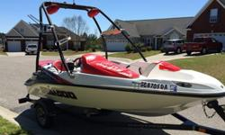,,,,,,,,2008 Seadoo Speedster 150 with the 215 Supercharged engine. This boat only has 43 hours on it.... It has a folding wake tower, seadoo trailer, seadoo cover, stereo with amp and remote, depth/fish finder, and plenty of dry storage. The boat is in