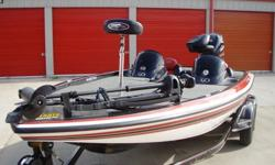 Skeeter 21i 2008 Dual Console.Yamaha 2008 250hp VMAX.Tandem Trailer with surge breaks and swing away tongue.200Hours ? Complete Service Schedule, Meticulously Maintained, Storage Shelter Kept.Great Condition.Features: Cockpit Features DMS (Digital