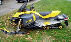 2008 Ski Doo MXZ Adrenaline 600 H.O. SDI XP with electric start and reverse. This snowmobile has only 1,279 original miles and is in great condition. The snowmobile is completely stock with no modifications made except for some add on accessories. Engine
