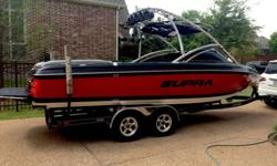 I purchased boat brand new in 2009 and it has been garage kept and covered since it was new. Winterized and summarized professionally every year. New propeller, oil, and batteries this year. Cleanest, loudest stereo I have heard on the lake in a wakeboard