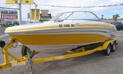 2008 Tahoe 20' Open bow. Mercruiser 5.0 MPI Alpha One Drive(260HP) Dual Battery w/Switch Swim platform with ladder CD player with AUX input Built in Cup Coolers and Radio control from in the water. This boat is in excellent condition and is ready to go!