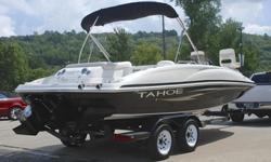SUPER MINT 2008 Tahoe 215 Fish Deck edition deck boat. This one owner boat is in excellent condition and shows to have been hardly used. Boat has always been stored indoors. ONLY 30 HRS ! ! ! 53 MPH ! ! ! EXCEPTIONAL CONDITION ! ! ! Hull:overall appears