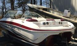 Excellent Condition, the only issue this 7 year old boat has; rear center cushion seams are beginning to pull apart from people stepping on them getting in and out of boat. Stored inside it's entire life and professionally serviced each year by marine
