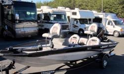 2008 Bass Tracker 175 TXW.This is a used Bass Tracker that is equipped with a Mercury 50 HP 2 Stroke outboard motor and a MotorGuide Pro Series 12 volt 46 Lb. thrust foot controlled trolling motor, Lowrance X37 TX dash mounted fish finder and single axle