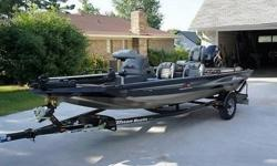 THE BOAT IS IN LIKE NEW CONDITION INSIDE AND OUT AND I'LL TRY TO LIST BELOW EVERYTHING ABOUT IT.TRITON TC-17 TOURNAMENT CRAPPIELENGTH - 17' BEAM - 6.2' LIFETIME WARRANTY ON THE HULL.ENGINE - 50 HP MERCURY OUTBOARD MOTOR POWER TILT AND TRIM OPERABLE FROM