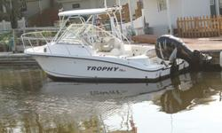 ,,,2008 Trophy Sport 2302WA w/ Mercury Verado 250hpBoat is in excellent condition very little wear. Only 170hrs.The boat is fully loaded- Hardtop, removable plastic/canvas cabin enclosure, Garmin gps/fish finder, vhf, sirius ready satellite radio, smart