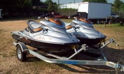 You are looking at a two used 2008 Seadoo RXP 255 PWC with 35 hours and 2 sets of keys: 2 regular keys and 2 learning keys which will restrict the pwc from reaching top speeds on a double carrier trailer. These 2-seaters are the quickest pwc on the water