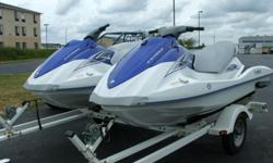This is a matched pair of NEW 2008 YAMAHA VX Waverunners on a 2004 Karavan double trailer! Buy this package for less than a lot of USED 4 strokes on the market. FULL 12 month warranty on the Waverunners. The VX is Yamaha's entry level 3 seat 4 stroke.